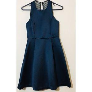 🍁BCBGeneration Dark Navy Shimmery Skater Dress